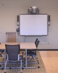 Our small classroom also has a SmartBoard and seating for 15-25 people.