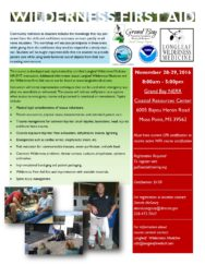 Wildlife First Aid Training @ Grand Bay NERR Coastal Resources Center | Moss Point | Mississippi | United States