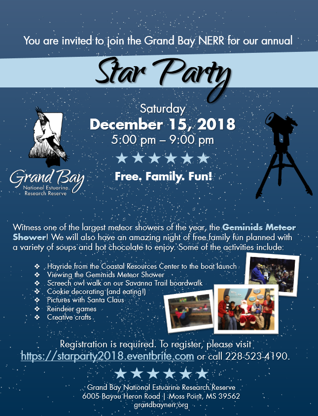 Upcoming Events - Grand Bay National Estuarine Research Reserve